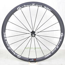 38mm road bike wheels Bicycle Wheelset basalt white sticker front carbon wheel