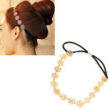Lovely Cute Sweet Exquisite Carve Flower Hair Band Headband Necklace