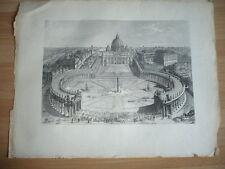 GRAVURE 1900 ROME ITALIE VATICAN