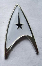 Metal Enamel Pin Badge Brooch Star Trek Trekkie Trekky Starship Enterprise White