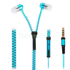 Blue For Mobile Phone Ear-bud Earphone Zipper Universal In-ear Headphone Headset