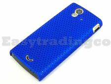 Blue Mesh Back Cover Case Sony Ericsson Xperia Ray ST18i