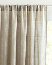 Serena and Lily Lucia Linen Window Panel, 50 x 96, Flax w/ Silver - NIP
