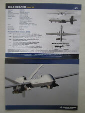 2014 DOCUMENT GENERAL ATOMICS AERONAUTICAL MQ-9 REAPER ARMED ISR ROYAL AIR FORCE