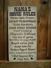 Nana's House Rules Plaque/sign - Choice Grandma Nana Grammy - Great Gift!