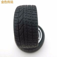 4pcs 40*15*3mm hollow Rubber Car Tire Toy Wheels Model Robot Part for 1:10 TOY