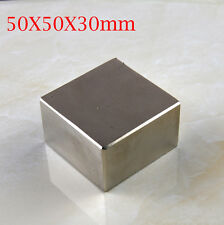High Quality 1pcs Block 50x50x30mm N52 Super Strong Rare Earth Neodymium magnets