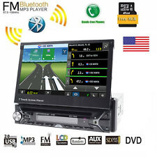 "Single 1Din Car Stereo 7"" In-dash Video DVD Player Windows CE Auto Radio GPS Nav"