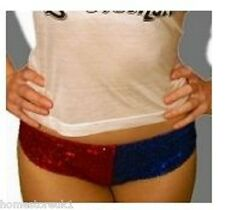 Harley Quinn Shorts Hot Sexy Panties Pants Suicide Squad Joker Cosplay Red&Blue