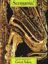 SAXMANIA GREAT SOLOS All Sax SAXOPHONE Music Book NEW
