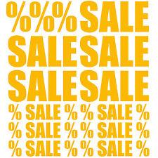 Sale Aufkleber Set Schlussverkauf Melonengelb Rabatt Discount % Ausverkauf