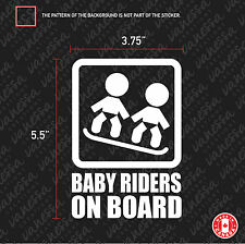 2X  BABY TWINS RIDERS ON BOARD sticker vinyl decal