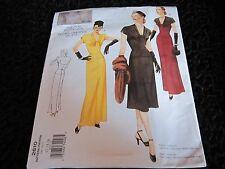 BNNT Vintage Vogue Paper Dress Making Pattern 1947 12 - 16 Evening Long 1940 WW2