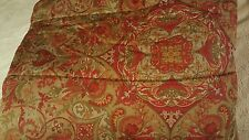 Ralph Lauren Randolph Paisley Red and Olive Green Comforter + Two Standard Shams