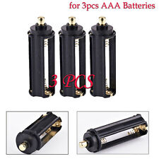 3PCS 3 AAA Battery Holder Spring Case Box For Flashlight Torch High Quality Case