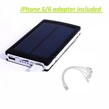 30000mAh Dual USB Portable Solar Battery Charger Power Bank Cell Phone iphone 6