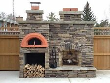 "Wood Fired Pizza Oven Kit ""Spazio 90"", Indoor & Outdoor + Terracotta Cazuelas!"