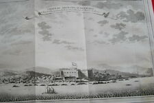 GRAVURE AFRIQUE CHATEAU ANGLAIS D'ANAMABO GAMBIE GAMBIA  1747