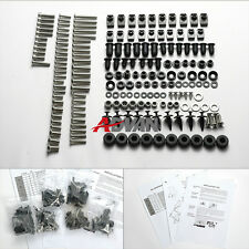 100PCS argent carénage Bolt Kit Screws visserie Suzuki TL1000R 98-03