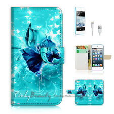 iPod Touch 5 iTouch 5 Flip Wallet Case Cover! P1054 Butterfly