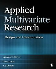 Applied Multivariate Research: Design and Interpretation, Guarino, Anthony J., G