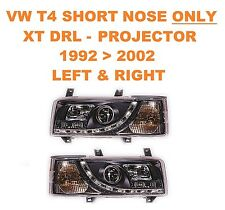 VW T4 Transporter Van & Bus DRL XT-R Black Projector Headlights SHORT NOSE ONLY