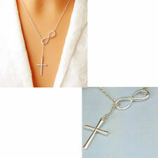 Infinity Lucky 8 Cross Pendant Necklace for Women Wedding Necklace Jewelry Gift