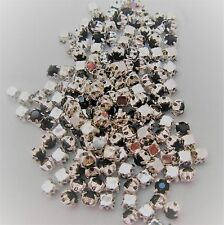 SEW ON RHINESTONES IN A CLAW SETTING  - SEWING - WEDDINGS VARIOUS COLOURS