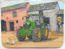 Mélamine coaster john deere 6210R tracteur art original made in uk * neuf *