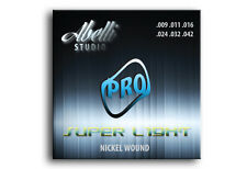 Abelli Studio Pro Electric Guitar Strings Set of 6 Nickel Wound, Super Light