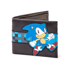 AWESOME SEGA SONIC THE HEDGEHOG RUNNING STRIP BLUE & BLACK WALLET *BRAND NEW*