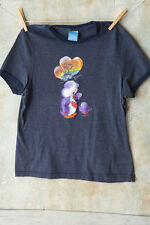 Vtg Care Bears Purple Bear Rainbow Balloon Gray Jrs Babydoll Soft T-Shirt Large