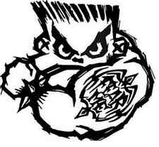 STANDARD SINGLE STAGE BAD BOY AIRBRUSH STENCIL TEMPLATE