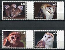NIUAFO`OU 2012 Eulen Owls Satz ** MNH