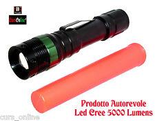 Torcia Led Cree BL-8373 Prodotto Autorevole Potente Batteria Caricabatterie Zoom