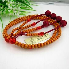 SGI Juzu,plumwood nenju,Japan nichiren Buddhist praying beads,5 Red string balls