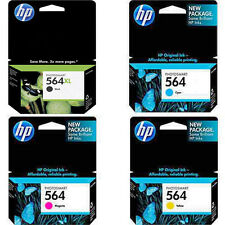 Exp 2016/2018 BOX 4-Pk Genuine HP 564XL Black 564 Color Ink For 5520 5522 5524