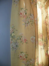 VINTAGE SEARS CURTAINS-ROSES & LACE-TWO SIZES-TWO PAIR OF EACH-LOVELY COTTAGE