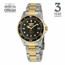 Invicta Pro Diver Men Gold IP 38mm Quartz Stainless Steel Diving Watch 8934