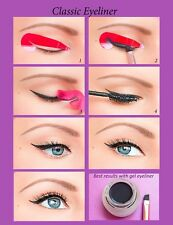 Perfect Cat Eyeliner Stickies Stencil Cosmetic Quick Winged Eye Makeup Tool UK4