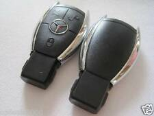 Chrome Smart Remote Key shell Case fits Mercedes benz 3 button S SL ML SLK CLK E