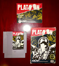 PLATOON NES CIB COMPLETE ADULT OWNED NES RARE GORGEOUS FAST SHIPPING!!