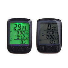 Pro Waterproof Cycling Bike Bicycle Cycle LED Computer Odometer Speedometer Set