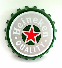 "LARGE 3"" HEINEKEN BEER CAP OPENER FRIDGE MAGNET BAR DISPLAY BREWERY COLLECTIBLES"