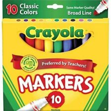 Crayola Broad Line Markers, Classic Colors, 10 Ct (Pack of 24)