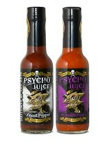 El Dr. burnorium Set De 2 Psycho Jugo 70% Scorpion & Extreme Ghost Pepper Hot Sauce