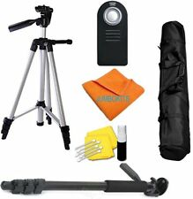 "Lightweight 50"" Photo Tripod + PRO MONOPOD + REMOTE  For Canon EOS Rebel T3"