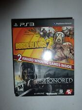 PS3 Borderlands 2 & Dishonored Brand New Sealed Games B179