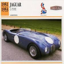 1951-1953 JAGUAR C-Type Racing Classic Car Photo/Info Maxi Card