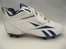 Reebok Football Cleats 11.5 NFL Equipment Hardlink Pro Model White Blue Mens NEW